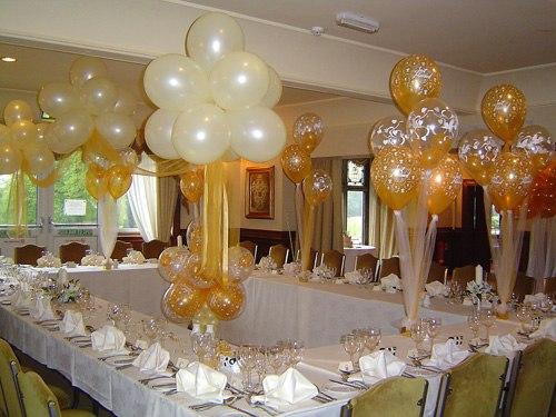 Украсить свадебный зал шарами своими руками